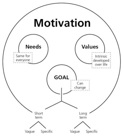 Motivation - needs, goal and values